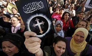 Egyptian Christians protest