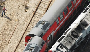 Two trains grazed one another near Netanya.