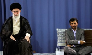 Iranian Leaders Khamenei and Ahmadinejad