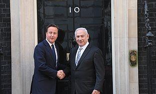 Cameron and Netanyahu at 10 Downing St.