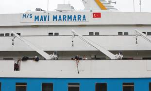 The 'Mavi Marmara' in port