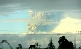 The cloud from Chile's volcano
