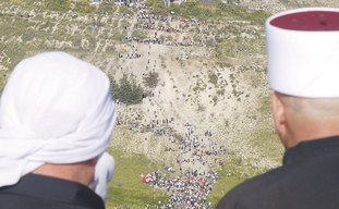 Golan Druse in Majdal Shams watch Sunday's brawls.