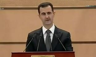 Syrian President Bashar Assad speaks, Monday
