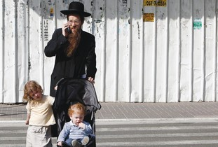 AN ORTHODOX family in Jerusalem.