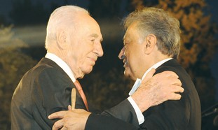 Shimon Peres with Zubin Mehta