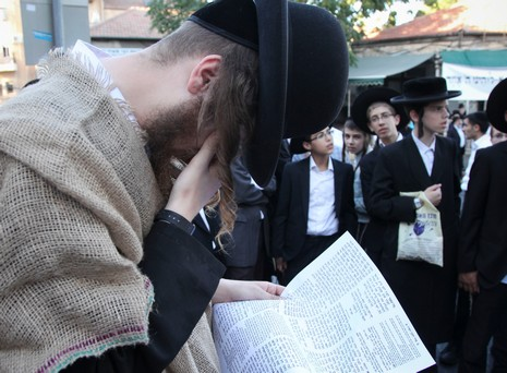 Anti gay pride at Mea Shearim