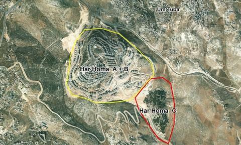 Map of east Jerusalem