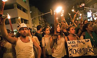 A social protest march in Tel Aviv.