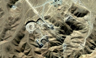 Suspected uranium-enrichment facility near Qom