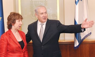 Catherine Ashton and PM Binyamin Netanyahu