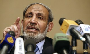Hamas leader Mahmoud Zahar  - Photo By Reuters