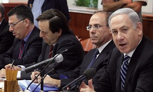 PM Netanyahu at cabinet meeting