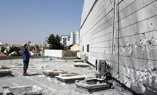 Rocket-damaged school in Beersheba [file]