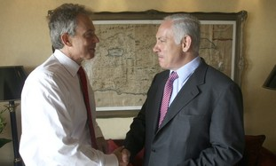 Quartet envoy Tony Blair and PM Netanyahu