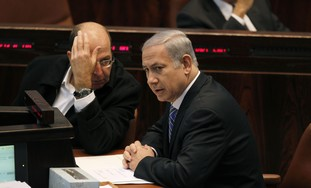 PM Netanyahu & Deputy PM Yaalon - Photo: Reuters