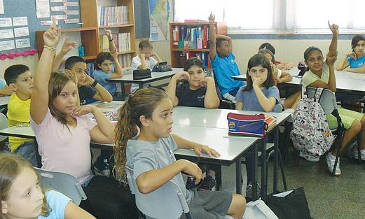 Students at Beersheba's Gevim Elementary School.