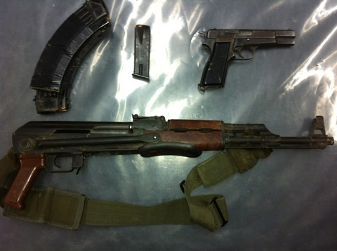 weapons apprehended from Sinai smugglers [Courtesy]