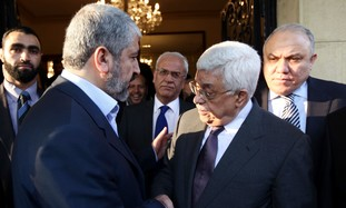 Abbas and Mashaal meet in Cairo to talk unity