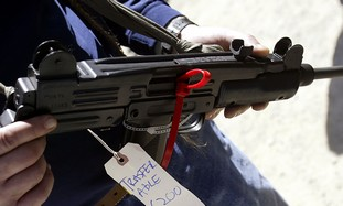Uzi model submachine gun - Photo: Reuters
