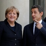 Nicolas Sarkozy and Angel Merkel