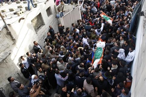 Palestinian funeral for Essam Al-Batsh and Sobhi Al-Batsh
