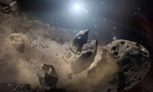 Asteroids flying more like the moon