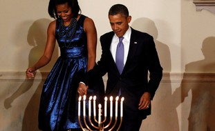 Obamas at White House Hannukah party