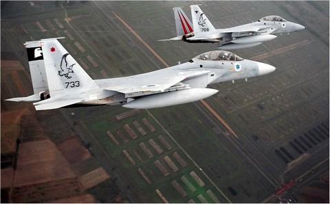 IAF F-15s flying over Auschwitz (IAF Spokesman)