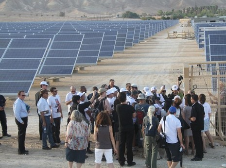 Arava solar field groundbreaking ceremony