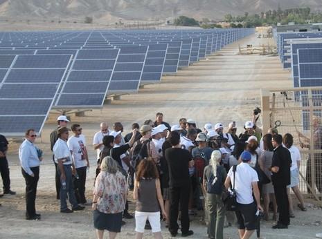 Arava solar field groundbreaking ceremony