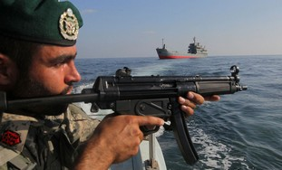 Iranian military in the Strait of Hormuz - By REUTERS/Fars News/Hamed Jafarnejad