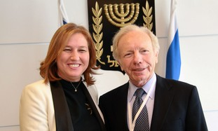 Tzipi livni with US Senator Joe Lieberman