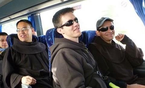 Franciscan Seminarians on the road to the Jordan River