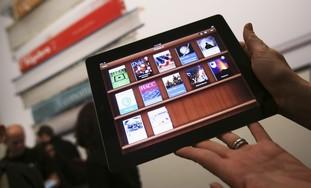 An educational application on an iPad