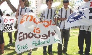 Israelis protest for Jonathan Pollard in Jerusalem