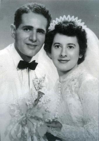 Wedding photo of Joseph and Anita Schneider, dedicated
