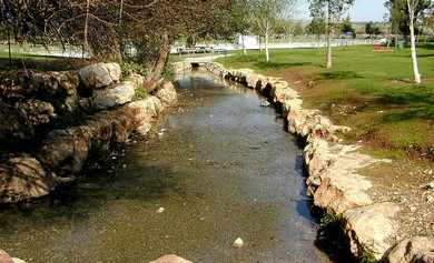 Ein Harod stream (photo: BiblePlaces.com)