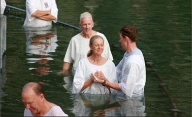 Baptism at Jordan River (Wayne Stiles)