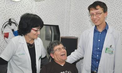 Meir Turgeman regains his hearing.