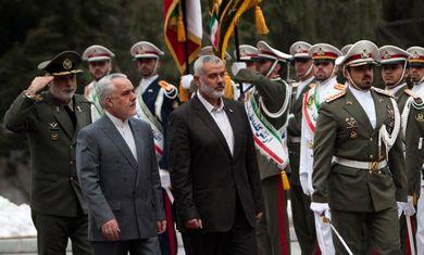 Hamas PM Ismail Haniyeh arrives in Tehran - Photo By REUTERS/Morteza Nikoubazl
