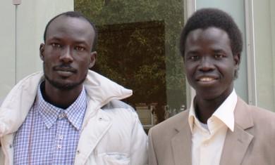 Gabriel (L), William (R), S.Sudanese students - Photo: Ben Hartman