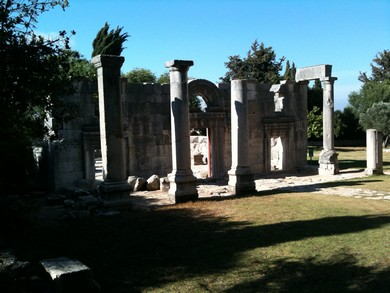 Ancient synagogue in Baram (Joe Yudin)