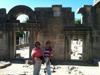 Entrance to ancient synagogue in Baram (Joe Yudin)
