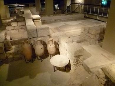 Ancient Jerusalem home cellar (Courtesy)