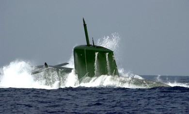 Israeli Navy Dolphin-class submarine file - Photo by REUTERS/Handout