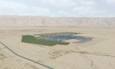 Computerized image of solar fields at Ketu