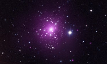 The dark matter in Abell 383; X-ray in Purple.