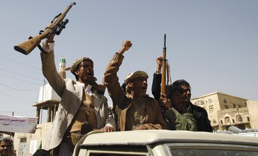 HOUTHI SHI'ITE rebels in Yemen