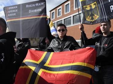 Members of the German Defense League (Reuters)